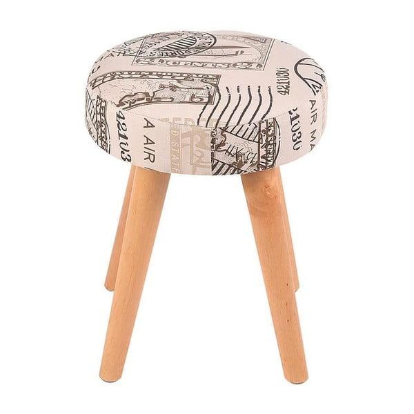 Podnožka/stolek Beige Print