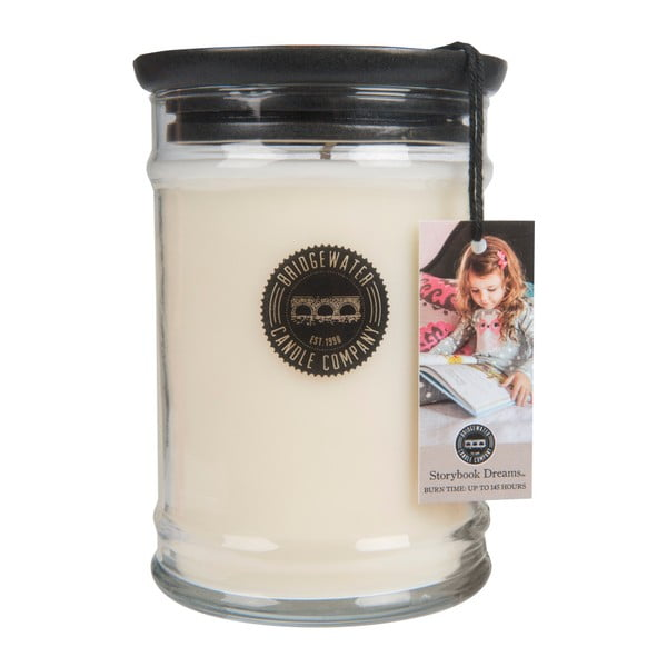 Svíčka ve skleněné dóze s vůní santalového dřeva Bridgewater candle Company Storybook Dreams, doba hoření 140-160 hodin