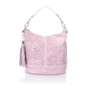Růžová kožená kabelka Massimo Castelli Straps