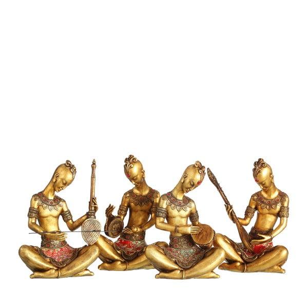 Sada 4 sošek ve zlaté barvě Denzzo Musicians
