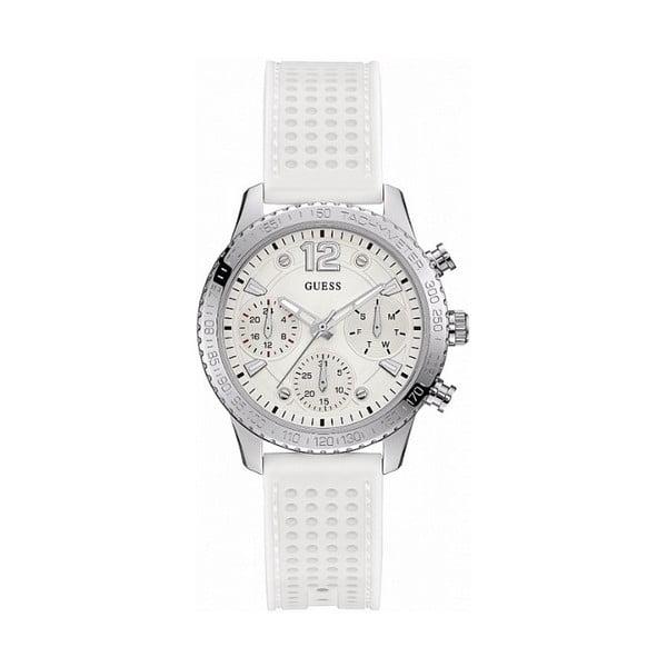 Zegarek damskiz białym silikonowym paskiem Guess W1025L1