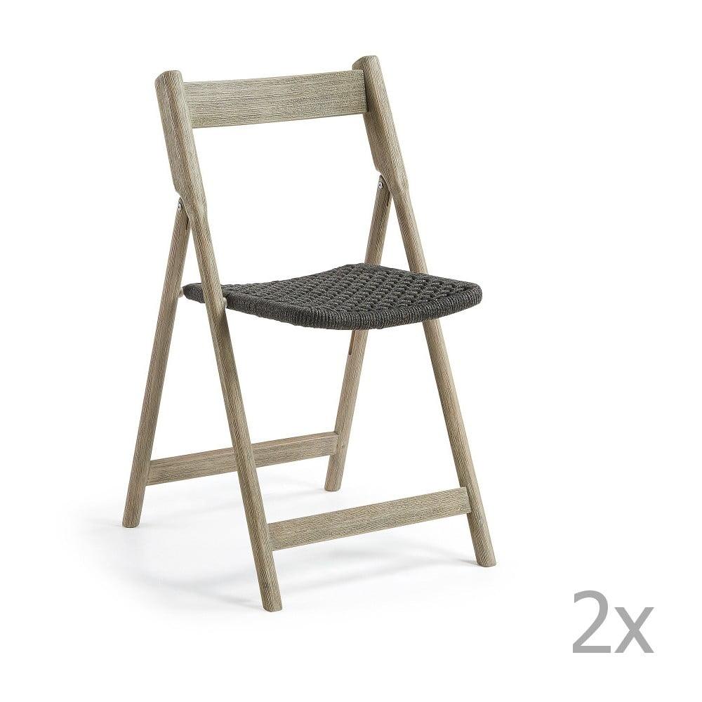 Sada 2 skládacích zahradních židlí La Forma Picot