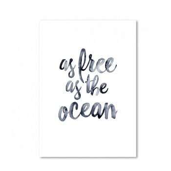 Poster Leo La Douce As Free As The Ocean 297 x 42 cm