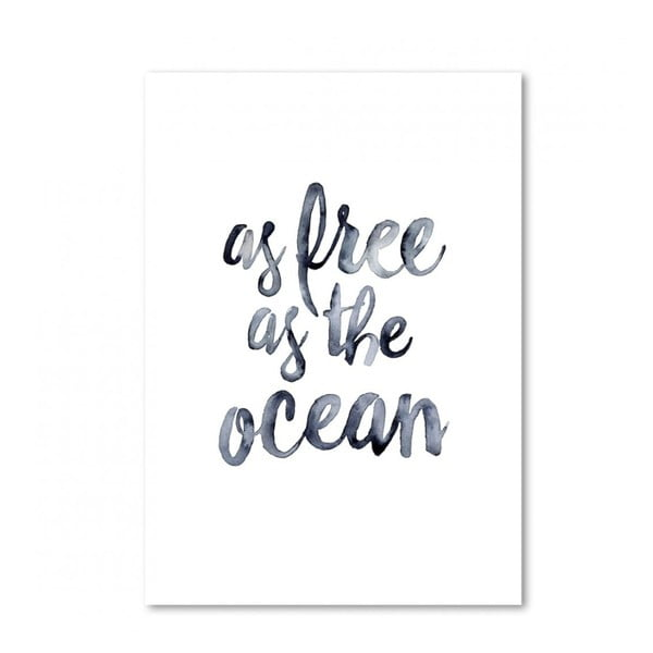 Plakát Leo La Douce As Free As The Ocean, 29,7x42cm