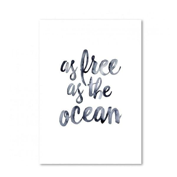 Plagát Leo La Douce As Free As The Ocean, 29,7x42cm