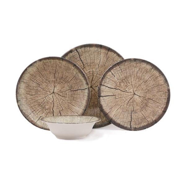 24-częściowy zestaw talerzy porcelanowych Kutahya Baleo