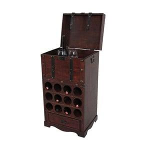 Stojan na 12 lahví vína Mendler Shabby Colonial 85 cm, hnědá