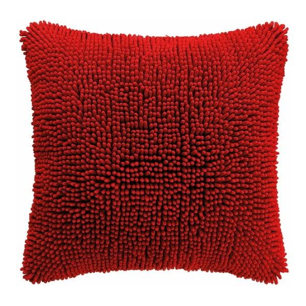 Shaggy piros párnahuzat, 45 x 45 cm - Tiseco Home Studio