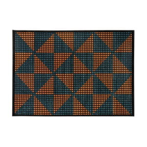 Oranžovo-černý koberec Cosmopolitan design Benelux, 133 x 190 cm