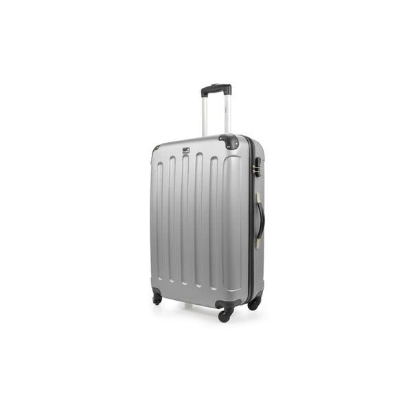 Stříbrný cestovní kufr na kolečkách Bluestar,114l