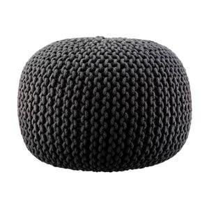 Pletený puf Lob, černý