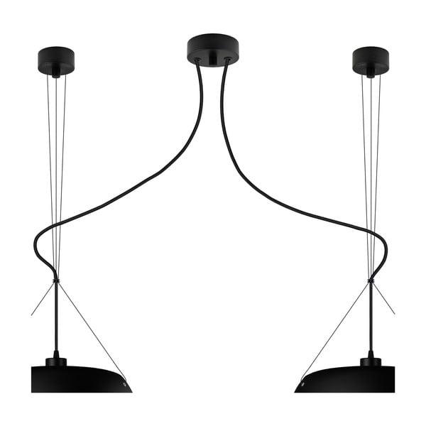 Černé dvojité matné závěsné svítidlo Sotto Luce MOMO