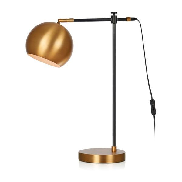 Čierno-bronzová stolová lampa Markslöjd Chester