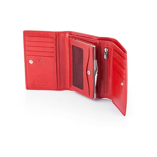 Kožená peněženka Valentini 681, červená