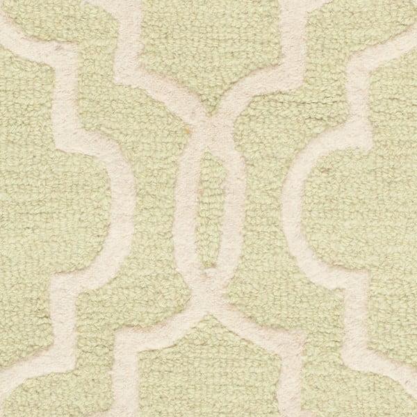 Světle zelený vlněný koberec Safavieh Elle, 91x152cm