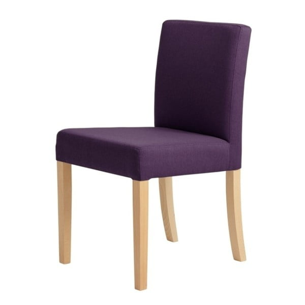 Fialová židle s přírodními nohami Custom Form Wilton