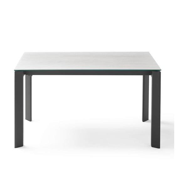 Šedo-černý rozkládací jídelní stůl sømcasa Tamara Snow, délka 160/240 cm