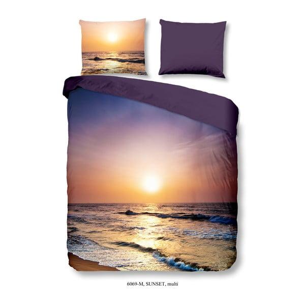 Povlečení na dvoulůžko z mikroperkálu Muller Textiels Sunset Over Sea, 200x200 cm