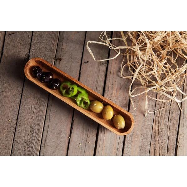 Bambusová miska na olivy Luiz, 22 cm