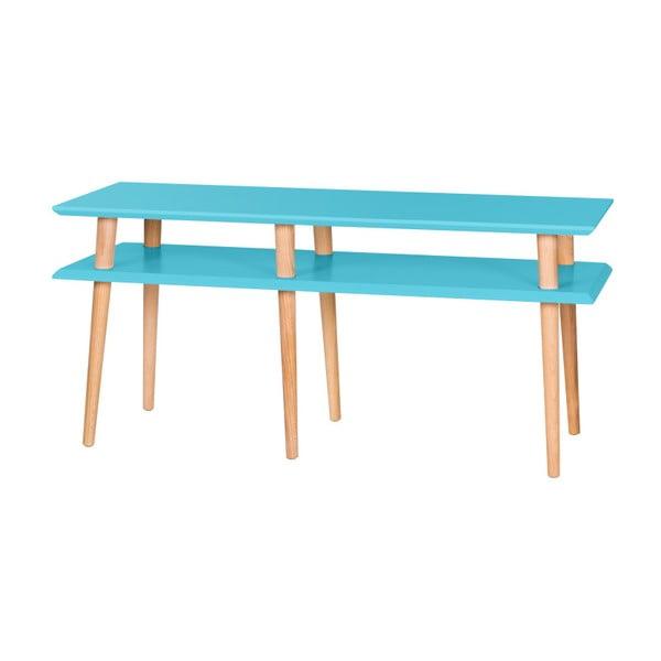 Tmavě tyrkysový konferenční stolek Ragaba Mugo,délka119cm