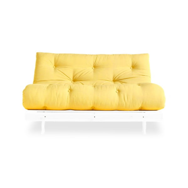 Canapea extensibilă Karup Design Roots White/Yellow