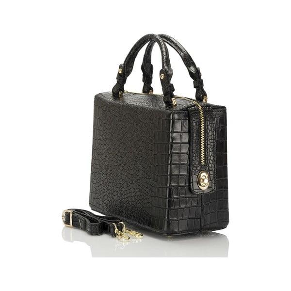 Černá kožená kabelka Lisa Minardi Luciano