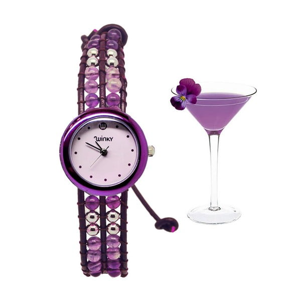 Korálkové hodinky Classic, Purple Rain