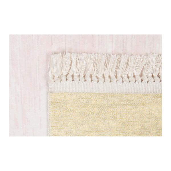 Sametový koberec Deri Dijital Rosuna Powder, 80x150cm