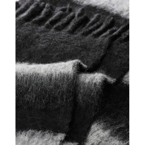 Pléd Marc O'Polo Stripe, 130x170 cm, černý