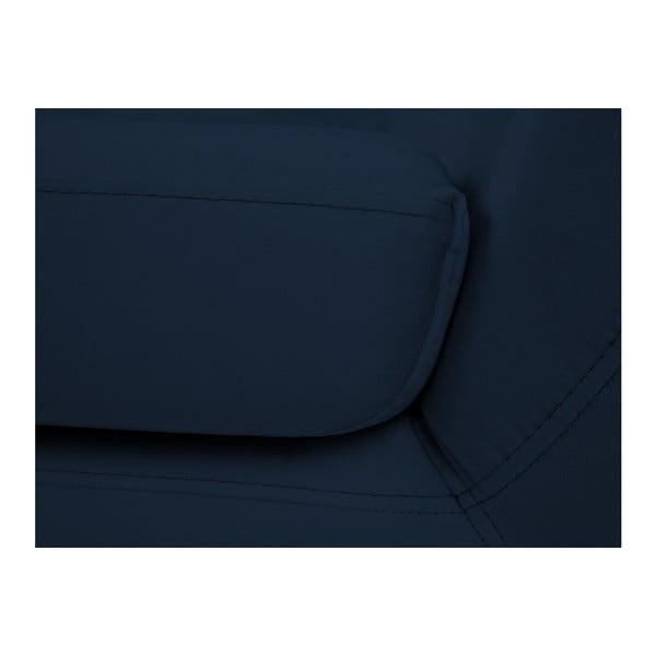 Tmavě modrá dvoumístná pohovka Mazzini Sofas Benito