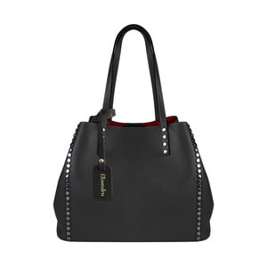 Černá kožená kabelka Maison Bag Milú