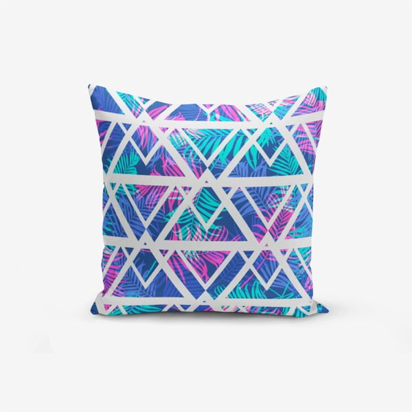 Față de pernă cu amestec din bumbac Minimalist Cushion Covers Palm Zigzag Desen, 45 x 45 cm