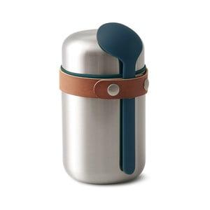 Modrá nerezová termoska na svačinu Black Blum Flask, 400 ml