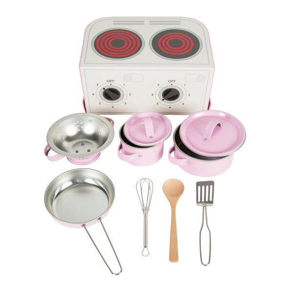 Rózsaszín konyhai szett gyerekeknek - Sass & Belle