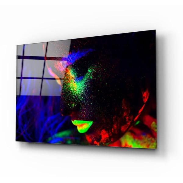 Neon üvegezett kép - Insigne