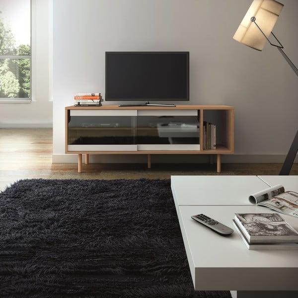 Televizní stolek Dann Oak, kovové nohy