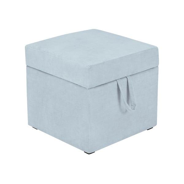 Pastelovomodrá taburetka s úložným priestorom KICOTI Cube