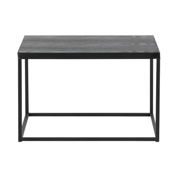 Konferenční stolek s černou deskou z masivního dřeva De Eekhoorn Rio, výška33cm