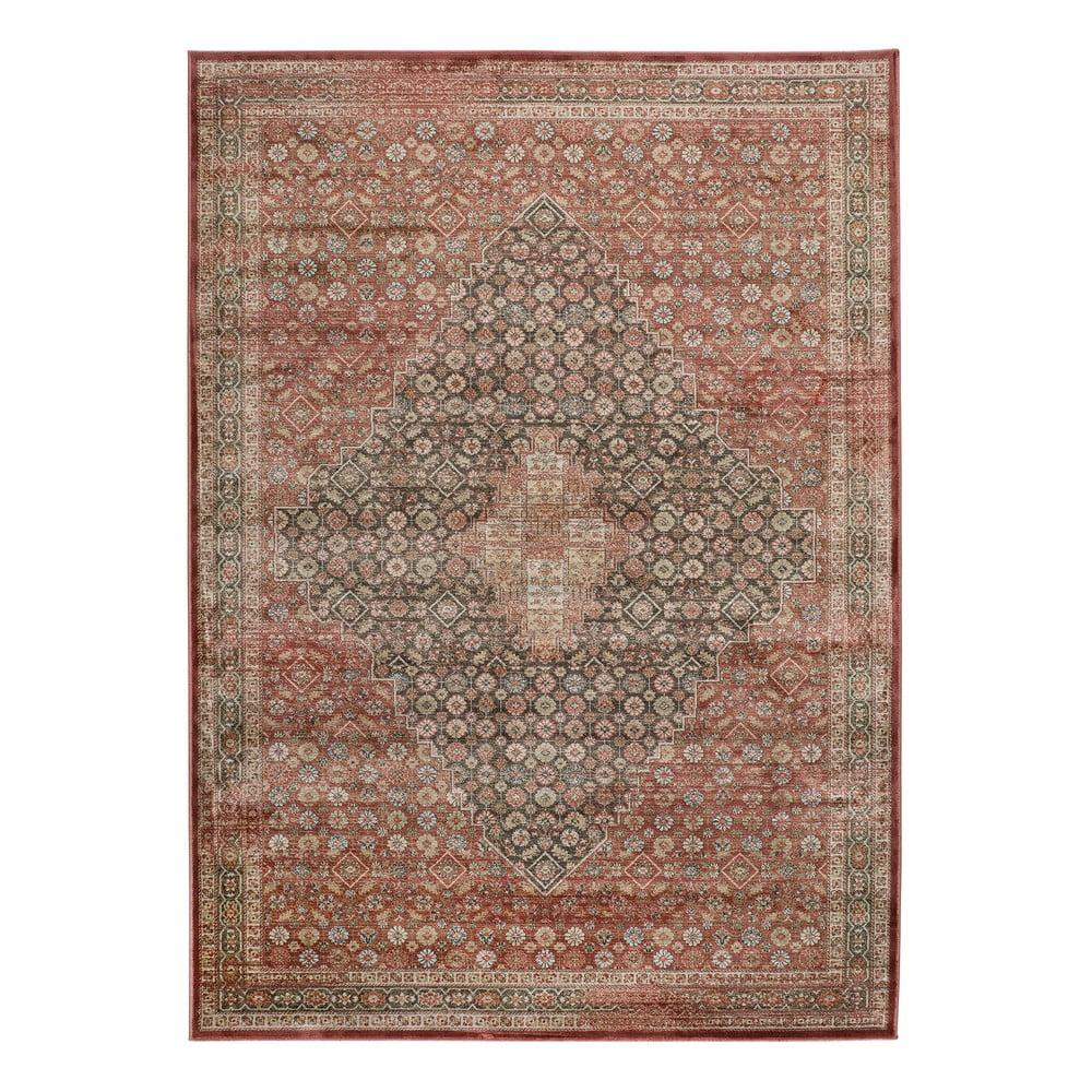 Červený koberec z viskózy Universal Rust, 120 x 170 cm