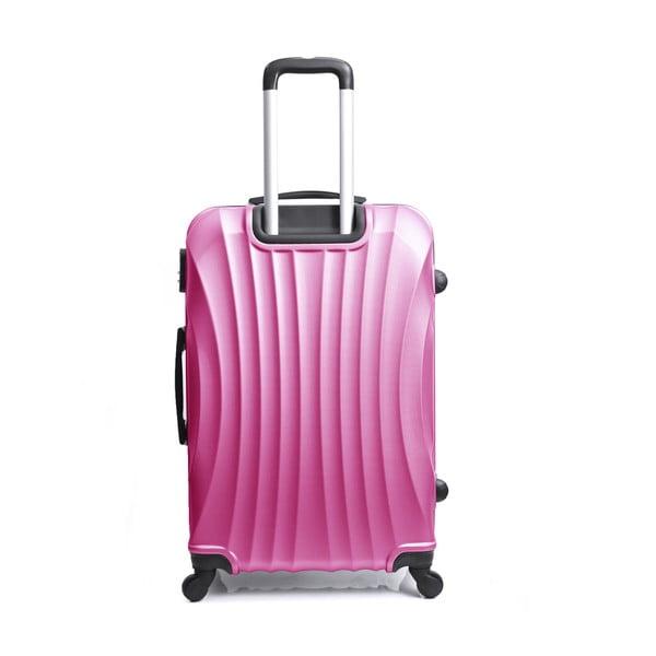 Růžový cestovní kufr na kolečkách Hero Moscou-e,30l