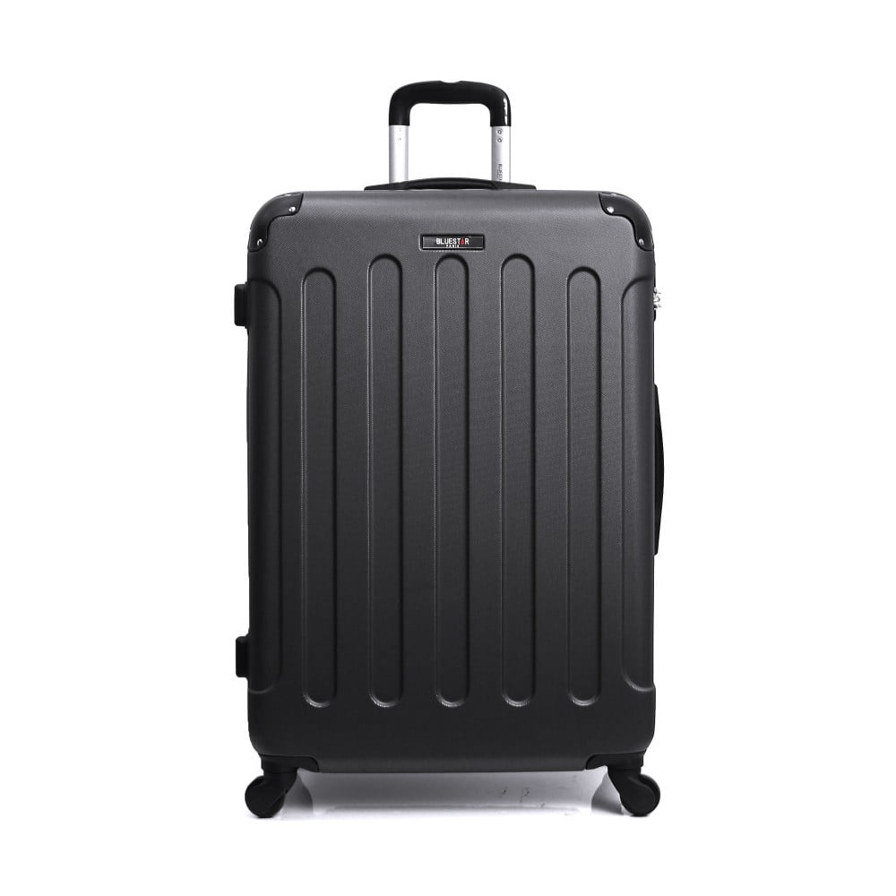 Černý cestovní kufr na kolečkách Bluestar, 32 l