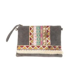 Béžovošedá kožená kabelka Tina Panicucci Hindu