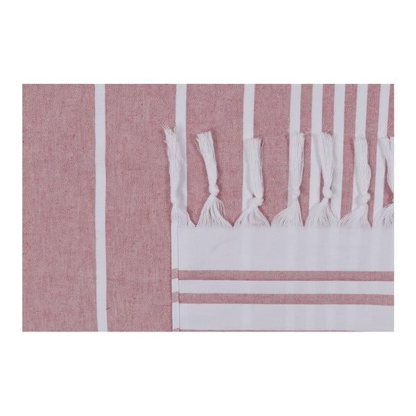 Růžová plážová osuška Fouta, 170x100cm