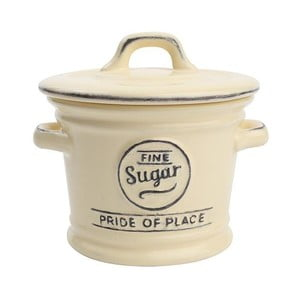 Doză ceramică pentru zahăr T&G Woodware Pride of Place, crem