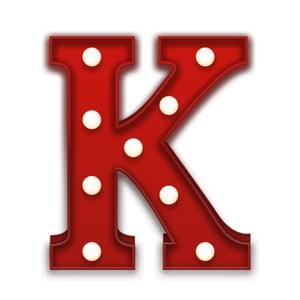 Dekorativní světlo Carnival K, červené