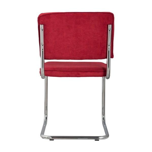 Sada 2 červených židlí Zuiver Ridge Rib