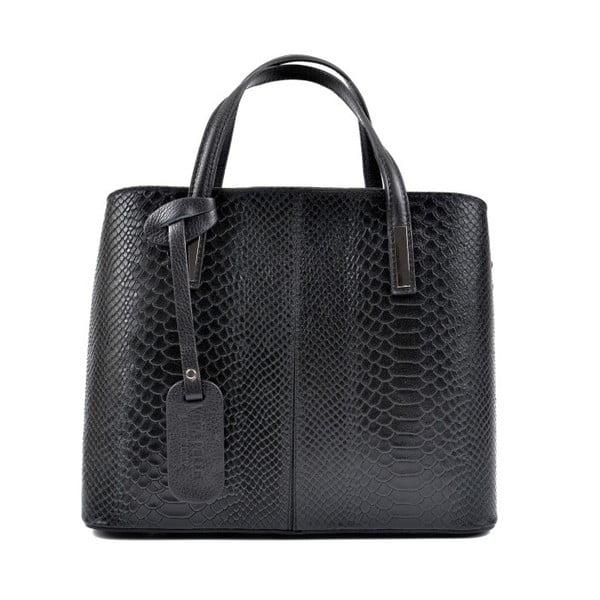 Čierna kožená kabelka Roberta M Lucy