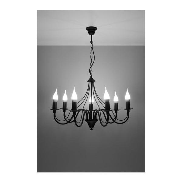 Černé závěsné svítidlo Nice Lamps Floriano 7