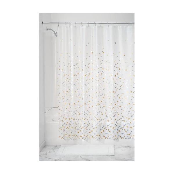 Průhledný sprchový závěs iDesign Confetti, 183x183cm