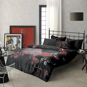 Povlečení Pierre Cardin Red and Black prostěradlem, 200x220 cm